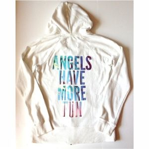 "Victoria's Secret Tops - *3/$45* VS ""Angels Have More Fun"" hoodie"